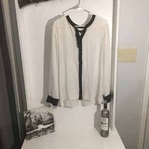 Banana Republic XL long sleeve button up blouse